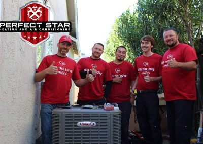 The Perfect Star 2019 Feel the Love install team! Left to right Chris Donzelli (Owner), Michael Jaquith, David Mendoza, Dade Clifton and Lance Bakke (Install Manager)